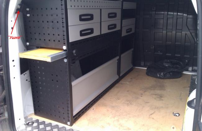 Монтаж мебели в Ларгус фургон