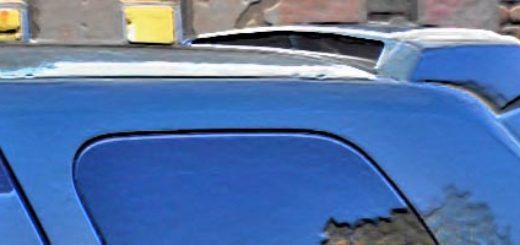 Спойлер чистое стекло на Рено Дастер