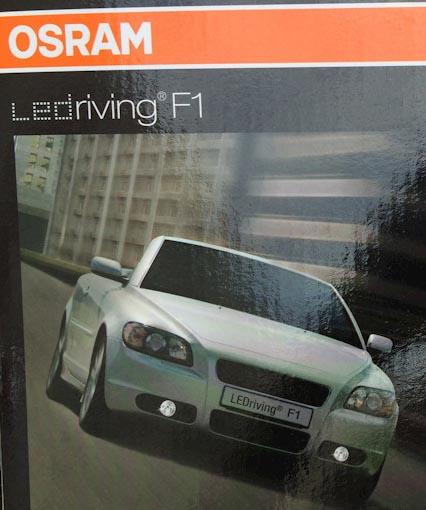 Упаковка ПТФ OSRAM ledriving F1 на Рено Дастер
