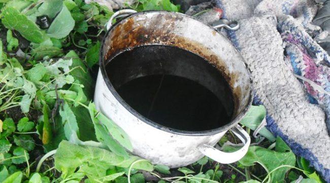Моторное масло слитое с двигателя Лада Калина