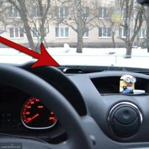 Индикатор парктроника на центральной панели Рено Дастер