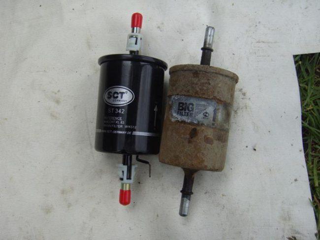 Топливный фильтр SCT на Лада Калина
