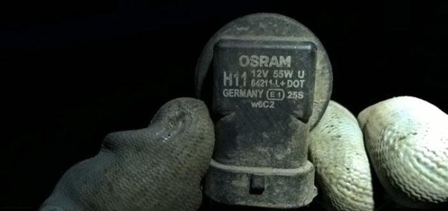 Тип и мощность лампы на патроне лампы ПТФ Рено Логан