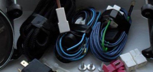Комплектация стандартного набора для установки ПТФ на Лада Калина