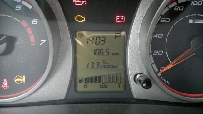 Расход топлива на бортовом компьютере Калина второго поколения