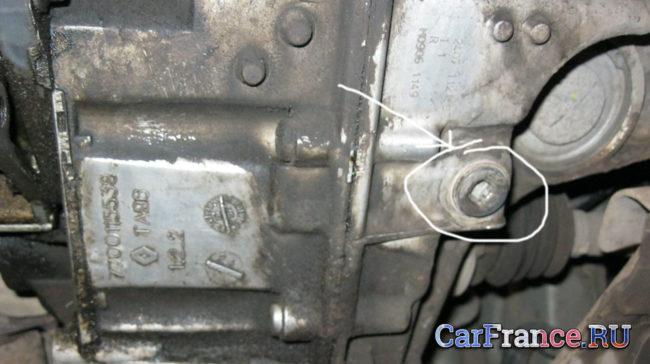 Сливная пробка АКПП Рено Меган 2