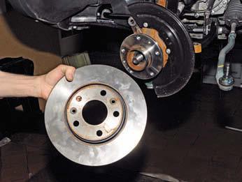 Снятие тормозного диска для снятия ступицы Рено Дастер