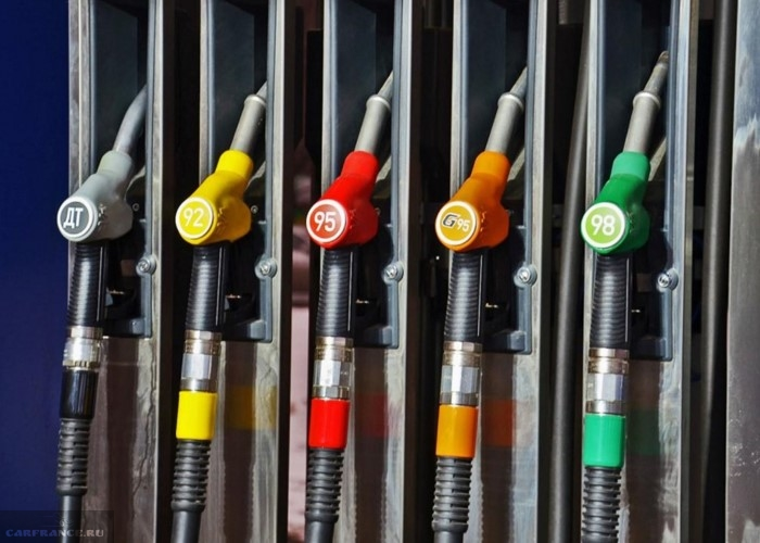 Стандартная бензоколонка на заправочной станции