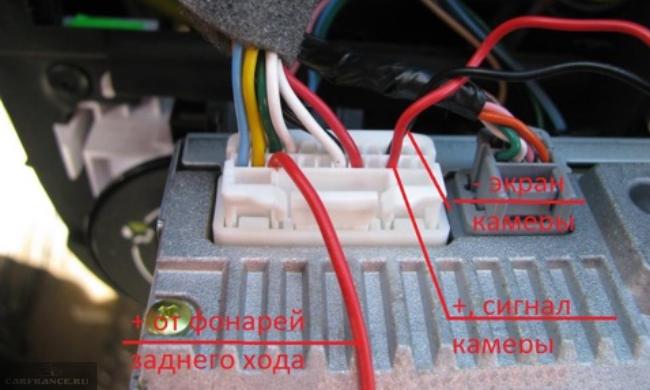 Разъём магнитолы Media NAV Рено