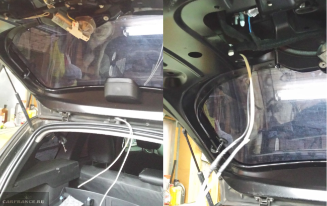Провода в двери багажника Дастер