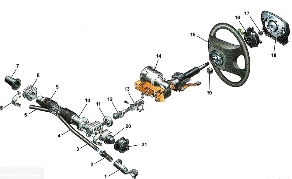 видео как подтянуть рулевую рейку на шевроле ланос