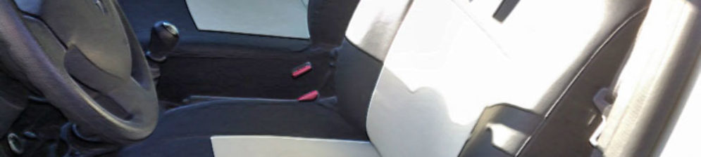 Чехлы из экокожи на задних сидениях Рено Дастер