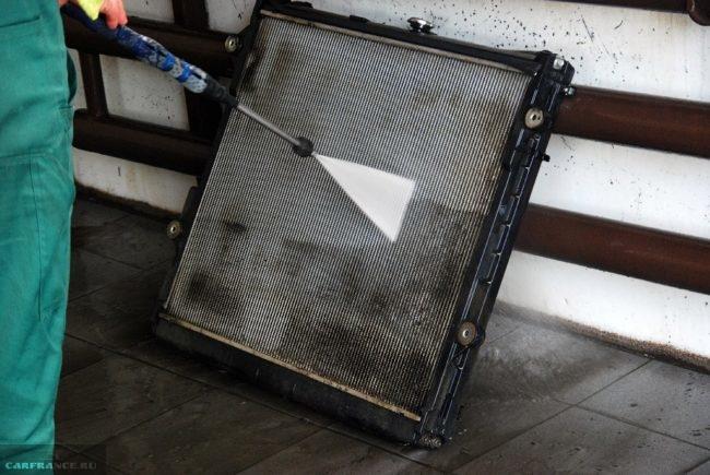 Очищение радиатора ОЖ Калины
