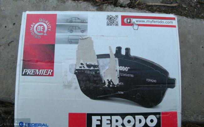 Передние тормозные колодки на Лада Ларгус Ferodo