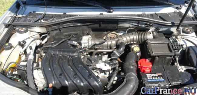 Бензиновая версия двигателя под капотом Рено Дастер