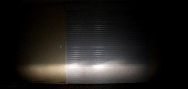 Регулировка фар на Лада Калина по воротам гаража