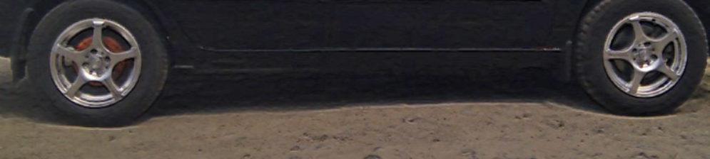 Колеса на Лада Калина вблизи одна сторона