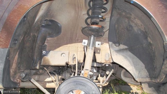 Рено Дастер подкрылки сняты заднего колеса