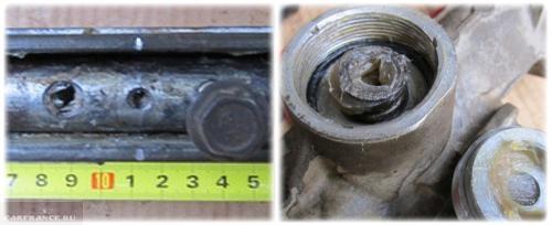 Установка меток на рулевой рейке Калина