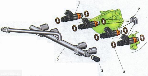 Схема рампы топлива Калина