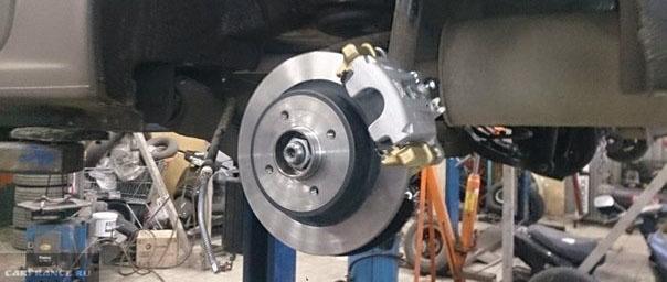 Установка задних дисковых тормозов на Лада Ларгус