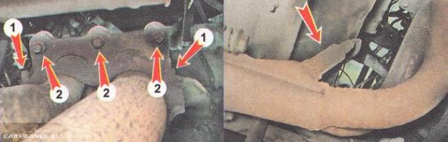 Снимаем приёмную трубу глушителя ВАЗ 21120