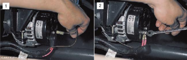 Отключить генератор ВАЗ 2112