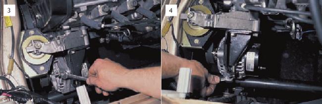 Снять ремень генератора ВАЗ 2112