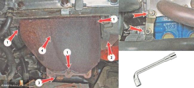 Снимаем выхлопной коллектор на моторе 21120