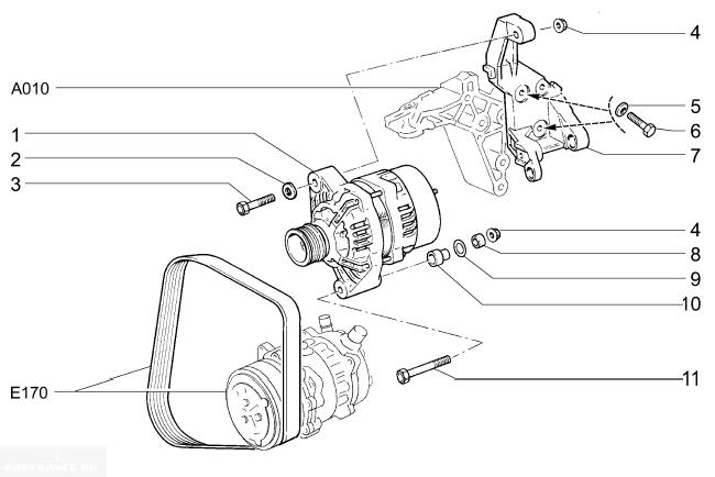 Как крепится генератор ВАЗ 2112 Люкс