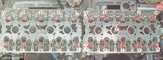Порядок монтажа и демонтажа ГБЦ ваз-2112