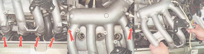 Демонтаж ресивера ВАЗ 2112