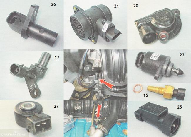 Датчики двигателя ВАЗ 2112