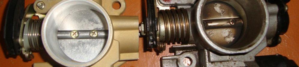 Чистая и грязная дроссельная заслонка на ВАЗ-2112