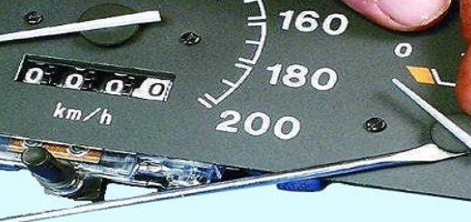 Стрелка указателя топлива на ВАЗ-2112 старая панель приборов