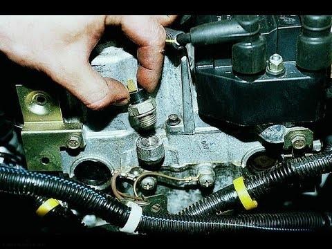 Монтаж нового датчика давления масла ВАЗ-2112