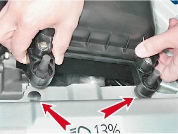 Демонтируем воздушный фильтр ВАЗ-2110