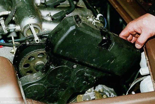 Демонтаж кожуха ГРМ ВАЗ 2112