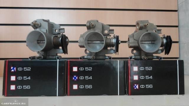 Дроссельные заслонки ВАЗ-2112 разных объёмов