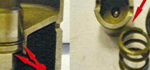 Износ гидрокомпенсаторов показан стрелкой