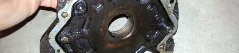 Снятый масляный насос с ВАЗ-2112