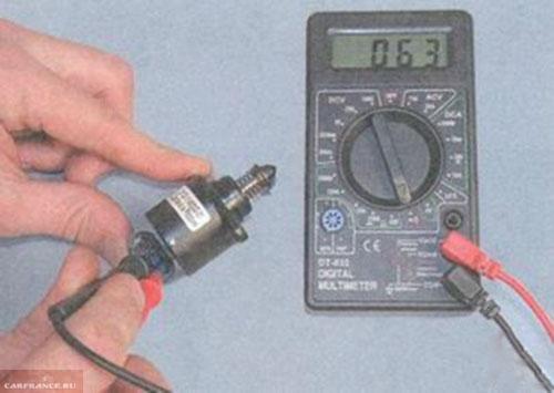 Измеряем сопротивление на РХХ ВАЗ-2110