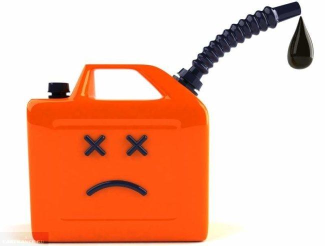 Канистра для бензина с надписью