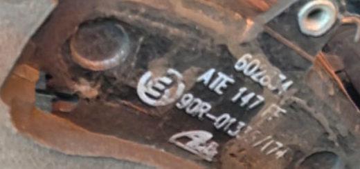 Передние тормозные колодки на Рено Логан