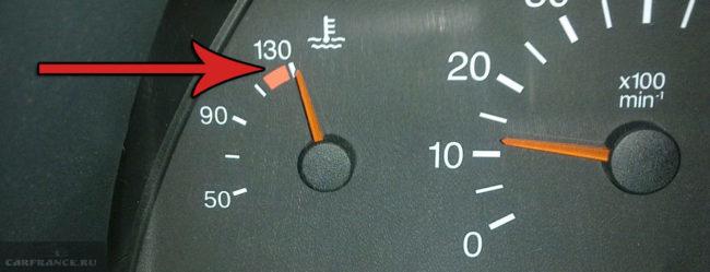 Стрелка указателя температуры охлаждающей жидкости на ВАЗ-2112