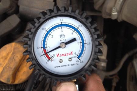 Измерение давление масла в двигателе ВАЗ-2112