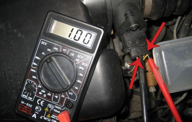 Подключение для проверки к ДМРВ и распиновка датчика