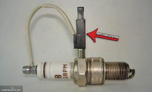 Проверка работы свечи зажигания на ВАЗ-2112 при помощи пьезо-элемента