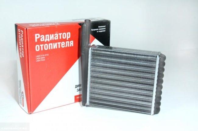 Радиатор отопителя для установки на Ладу Калину