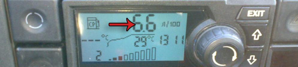 Средний расход топлива по бортовому компьютера на ВАЗ-2112